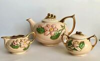 Hull NEW MAGNOLIA 5 Piece Set Teapot Sugar Bowl LIDS Creamer 1940's ART POTTERY