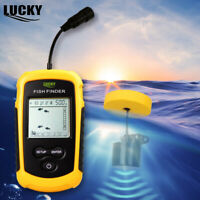 Lucky Portable Fish Finder 100M Sonar Sounder Transducer for Ice Boating LCD