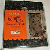 Halloween LED LIGHTED LACE WINDOW CURTAIN 42