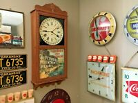 Dr Pepper Cola 8 Day Regulator Clock NICE Soda Fountain Sign Natures on Remedy
