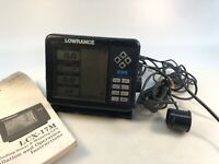 LOWRANCE X-85 SONAR FISH FINDER 10780395 Works! Mixed Lot