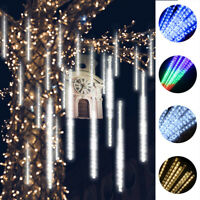 16Tubes LED Meteor Shower Lights Falling Icicle String Lights Wedding Xmas Decor