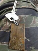 LaSalle Hotel Brass Key Fob vintage oldie art deco chicago