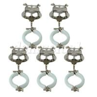 5 x Silver Clarinet Clamp-On Holder Lyre Sheet Clips Holder Musical Part