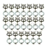 Clarinet Parts Clamp-On Holder Lyre Sheet Clips Holder Silver Pack of 20