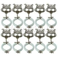10 Pieces Clarinet Parts Clamp-On Holder Lyre Sheet Clips Holder Silver