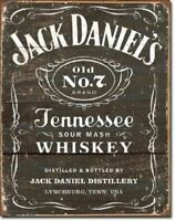 Jack Daniels Old 7 Whiskey Metal Tin Ad Sign MADE USA Picture Bar Man Cave Gift
