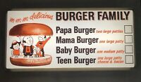 Vintage A&W Burger Family RARE Lighted Restaurant Sign Advertising Gas Drive-In