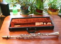 Vintage Silver Plated Pedler Clarinet - Elkhart Indiana USA w/ case