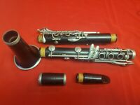 Normandy 4 Black Wood Clarinet In Case Made in France