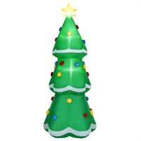 10' Inflatable Christmas Tree LED Lighted Giant Waterproof Tree Indoor