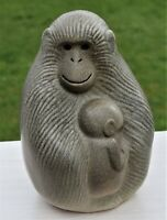 APE MOTHER with CUB  LISA LARSON GUSTAVSBERG  SWEDEN  FREE INSURED  SHIPPING
