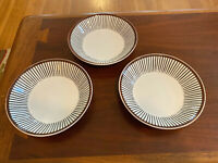MCM Gustavsberg Sweden Spisa Ribb Coupe Soup Bowl by Stig Lindberg Set of 3