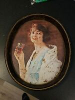 1973 Drink Coca#x27;Cola 1923 Advertisement Lady Metal Serving Tray. 15 x 12 quot;