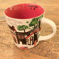 Rare Starbucks China Shanghai Xintiandi New World City Mug Series 2013 Red
