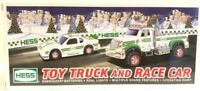 2011 HESS TOY TRUCK AND RACE CAR-NEW IN BOX..Never been opened