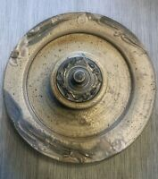 Vintage Studio Art Pottery Chip and Dip Platter Attached Bowl with Lid Large 14