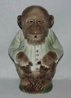 Antique French Majolica Monkey Figural Jug/Pitcher, St Clement, Signed
