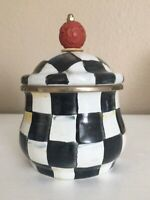 mackenzie childs courtly check lidded Sugar Bowl