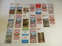 Vintage Lot of 19 Texaco Shell Chevron Chamber of Commerce Gas Station Road Maps