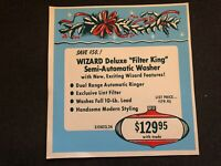 Vintage STORE SIGN Christmas Ornament Holly 1959 WIZARD Deluxe Filter King #5