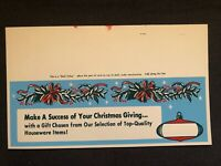 Vintage STORE SIGN Shelf Talker Christmas Ornament Holly Wreath GIVING nos #10