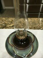 Bill Campbell Studio Pottery  - Large - Oil Lamp - Early Vintage