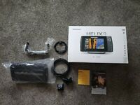Humminbird Helix 9 Sonar SI GPS Gen1 transducer and power cables and cover.