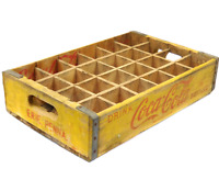 1965 Vintage Wooden Yellow & Red Coca-Cola Soda Pop Crate Coke Box - Erie, PA