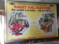 1957 FUEL INJECTION SHOWROOM POSTER - CORVETTE PROMOTIONAL -- 40