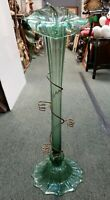 Late 19th Century English Victorian Green Glass Jack in the Pulpit Epergne Vase
