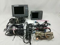Lowrance LCX-27C Lowrance LMS-520C GPS Puck Network Cable/Hub Total Boat Setup