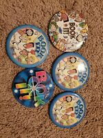 Vtg Pizza Hut BOOK IT 1990s Pin Button Rainbow Badge Lot Of 5