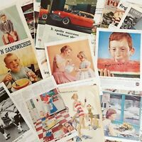 Vintage Magazine Print Ads Lot 30 Double Sided 1950s 1960s Saturday Evening Post