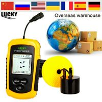 Luckylaker Portable Fish Finder 100M Sonar Sounder Transducer for Ice Boating