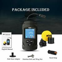 LUCKY Portable Fish Finders Wired Transducer Kayak Fish Finder Kit Depth Finder