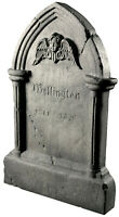 HALLOWEEN LIFE SIZE ANIMATED TIPPING TOMBSTONE PROP DECORATION ANIMATRONIC
