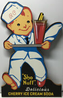"RC Cherry Ice Cream Soda Press Wood Sign ""Sho nuff"". S30"
