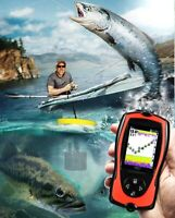 Portable Fish Finder Depth Sonar Sounder Fish finders Alarm Sonar LCD Screen
