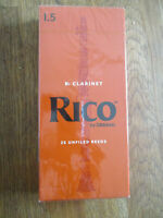 Rico Clarinet Reeds #1.5 - NEW IN BOX