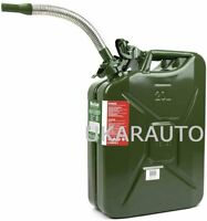 Wavian Green Authentic NATO Jerry Fuel Can 20L and LONG Flexy Spout System