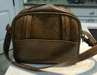 Vintage Suitcase American Luggage Works Triumph Brown Carry On Bag