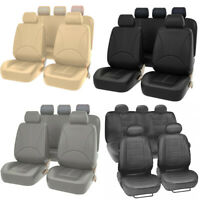 Universal Car Seat Covers Front Rear 5-Sit Full Set Durable For Auto SUV Truck