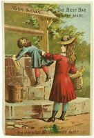 Lautz Bros & Co Master Soap Cake ACME Willie Don't Fall In Well Victorian Card