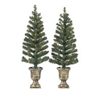 2PK-3' ft CHRISTMAS TREES  PORCH/ENTRY Decoration Holiday Pre-Lit indoor/outdoor