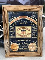 Original 1910's American Express Embossed Tin Sign