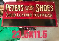 Vintage Peters And Sons Shoes, Advertising Sign Diamond Brand Shoes