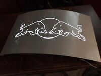"""Red Bull Energy Drink Metal LED Convex Light Sign Made In Austria 20x12x2.75"""""""