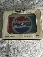 LIMITED EDITION ULTRA RARE Pepsi Clock By Clock-Wise Beveled Glass USA