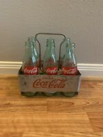 Vintage Coca Cola Carrier With Bottels 125 Year Anniversary